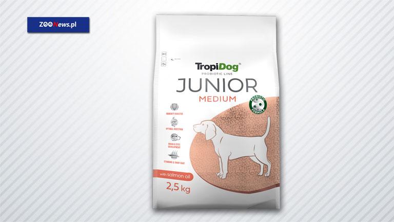 Sucha karma dla psa - TropiDog Probiotic Line Junior Medium